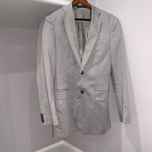 Express light gray blazer